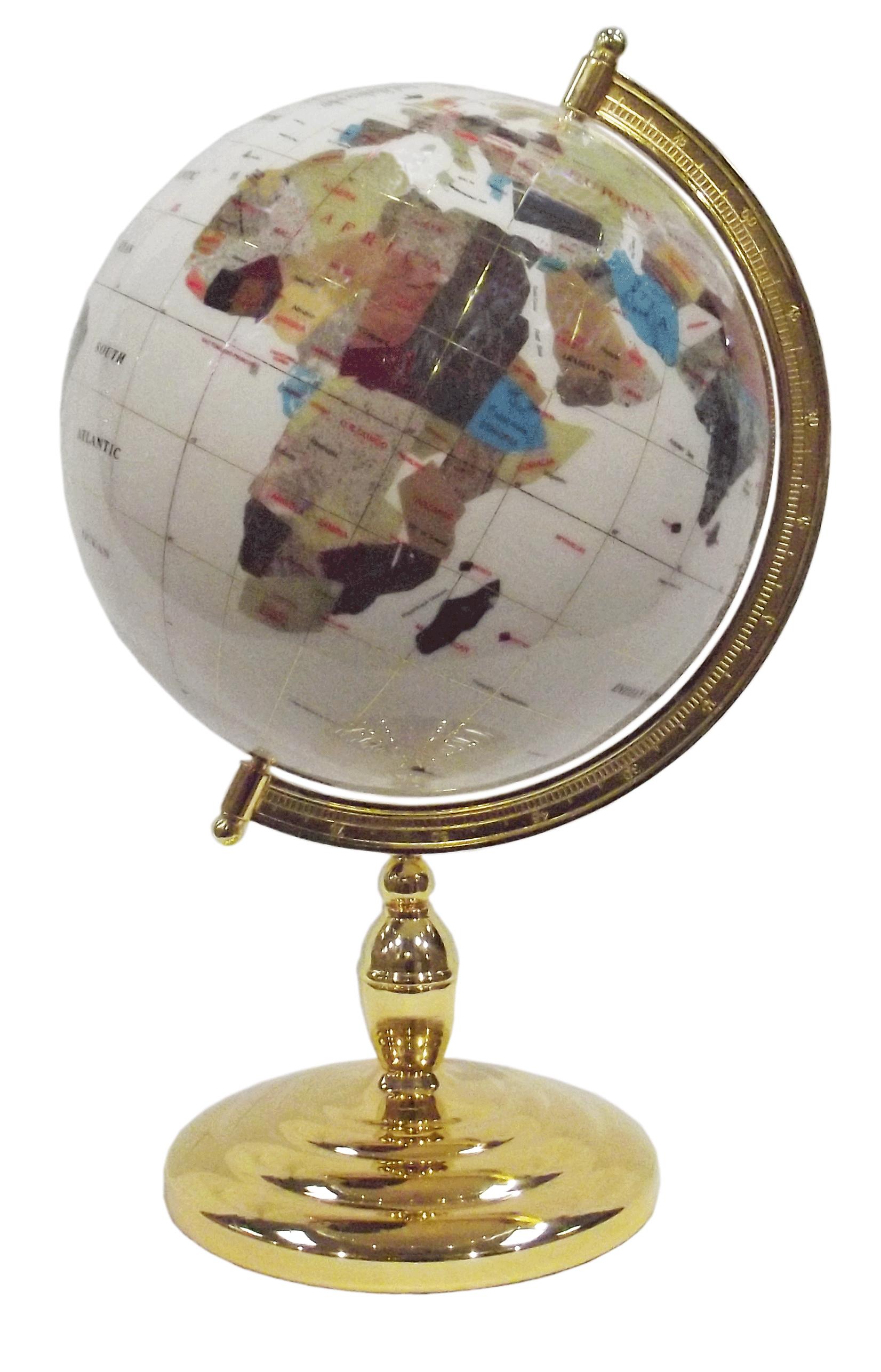 globe terrestre de bureau 33 cm blanc 1 pied dor gemmoglobe 1pb 33 d blan gemmoglobe. Black Bedroom Furniture Sets. Home Design Ideas