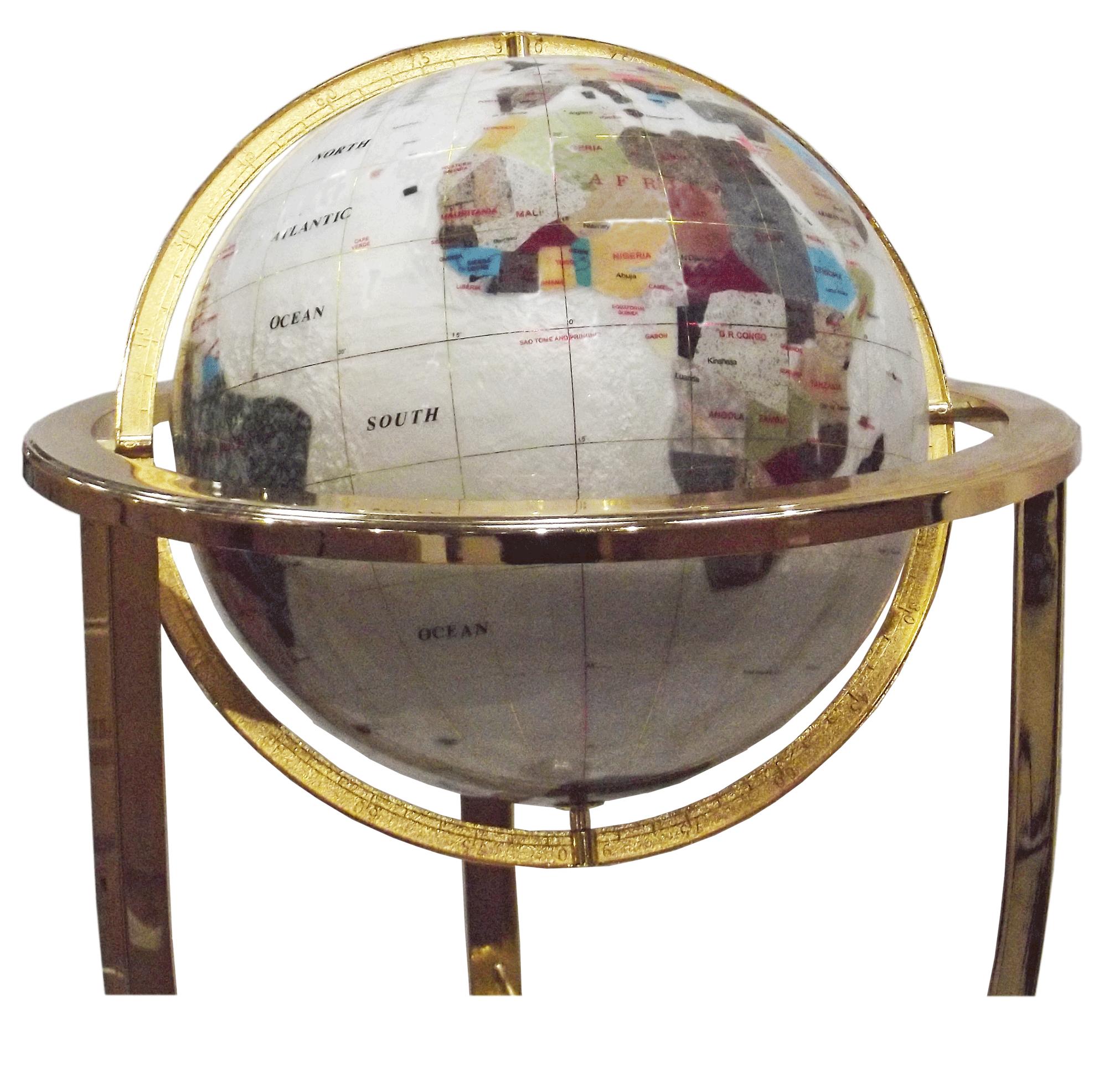 globe terrestre sur sol 33 cm nacre 3 pieds dor gemmoglobe 3ps 33 d nacr gemmoglobe. Black Bedroom Furniture Sets. Home Design Ideas