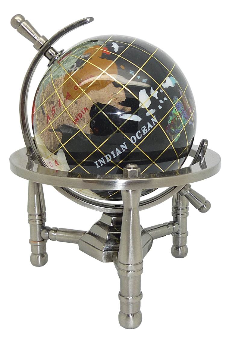 mini globe terrestre 9 cm noir 3 pieds acier gemmoglobe 3pb 09 a noir gemmoglobe boutique. Black Bedroom Furniture Sets. Home Design Ideas