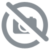 Gemstone globe tabletop 33 cm copper 4-legs stand gold finish